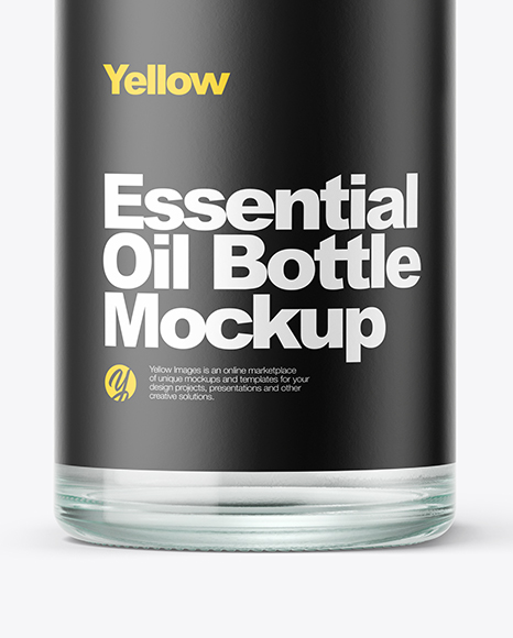Clear Oil Bottle Mockup