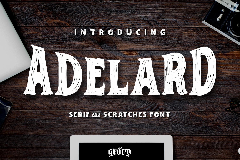 Adelard Scratches Fonts