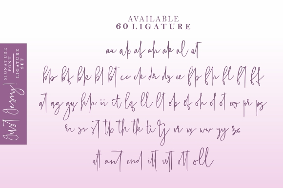 Just Jessy Signature Fonts