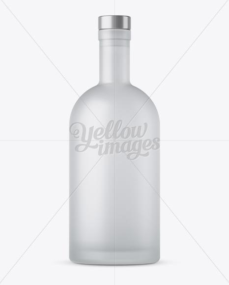 Download Black Matte Bottle Mockup Front View In Bottle Mockups On Yellow Images Object Mockups PSD Mockup Templates