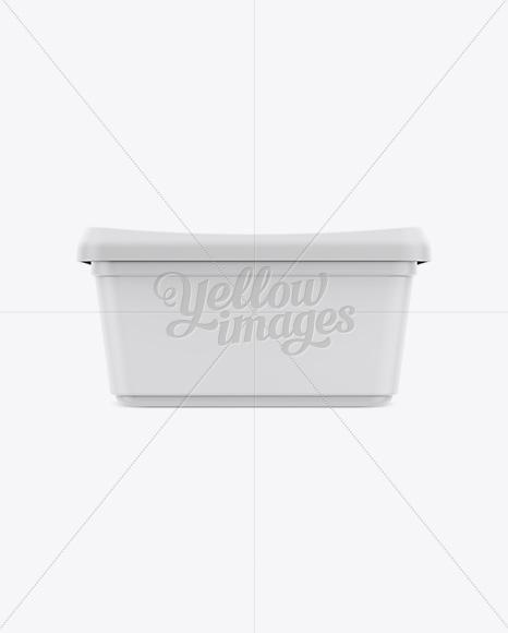 Matte Butter Tub Mockup - Front, Top & Side Views