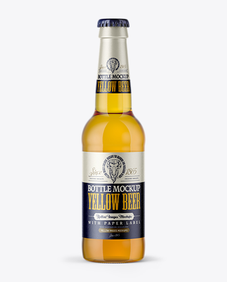 Download Download 330ml Clear Glass Lager Beer Bottle Yellowimages Yellowimages Mockups