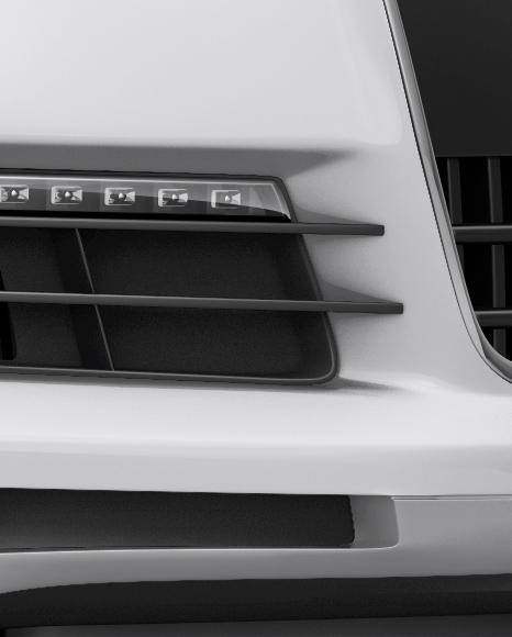 Audi Q7 Mockup - Halfside View