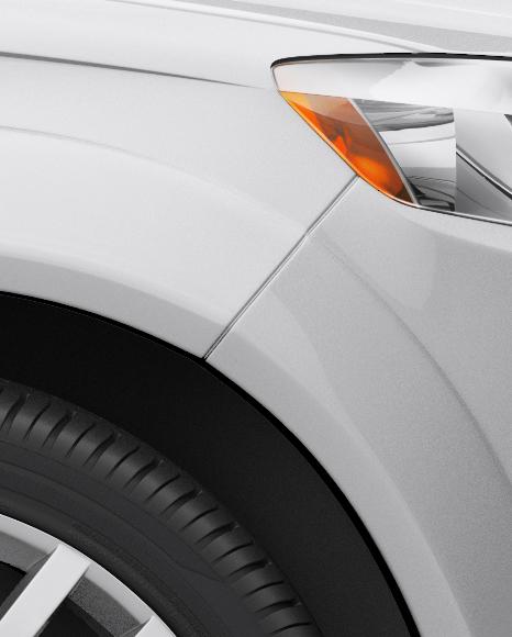 Audi Q7 Mockup - Side View