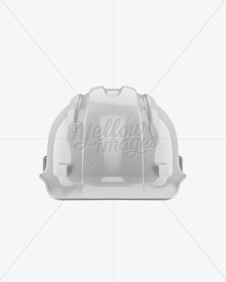 Glossy Hard Hat Mockup - Front View