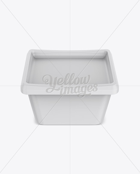 500g Matte Butter Tub Mockup - Front View (High-Angle Shot)