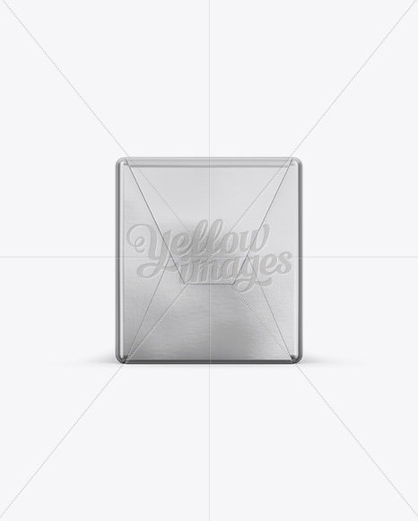 250g Butter Block In Metallic Foil Wrap Mockup - Front, Top & Side Views