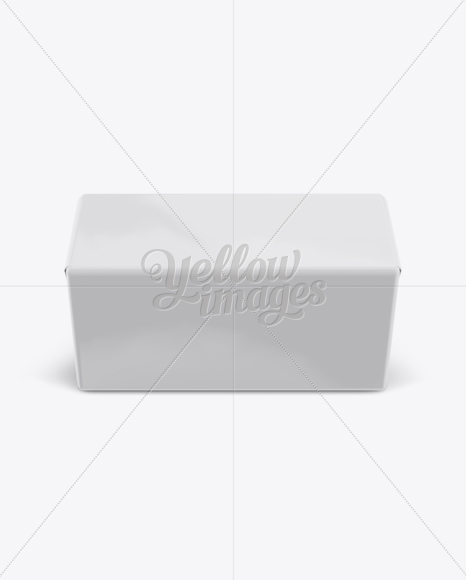250g Glossy Butter Block Mockup - Front View (High-Angle Shot)
