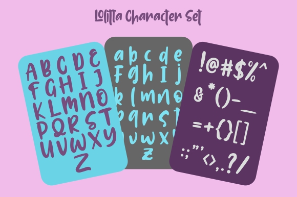 Lolitta Display Fonts