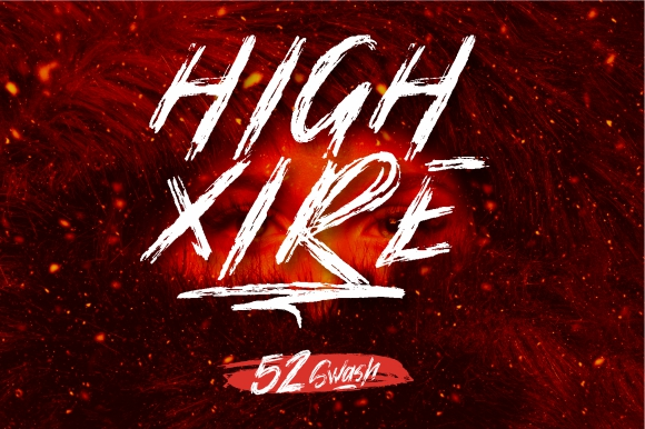 High Xire Brush Fonts [EXTRA 52 SWASH]