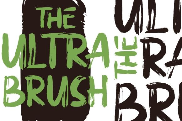 Ultra Brush Fonts