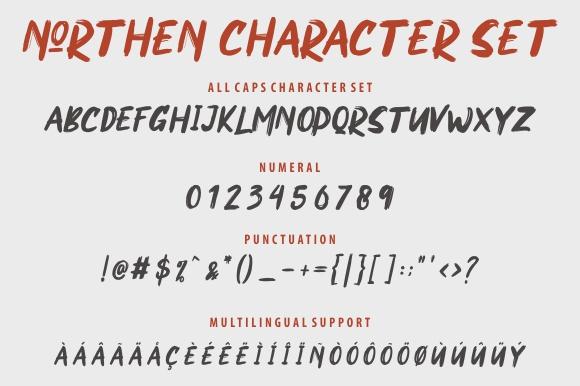 Northen Brush Font