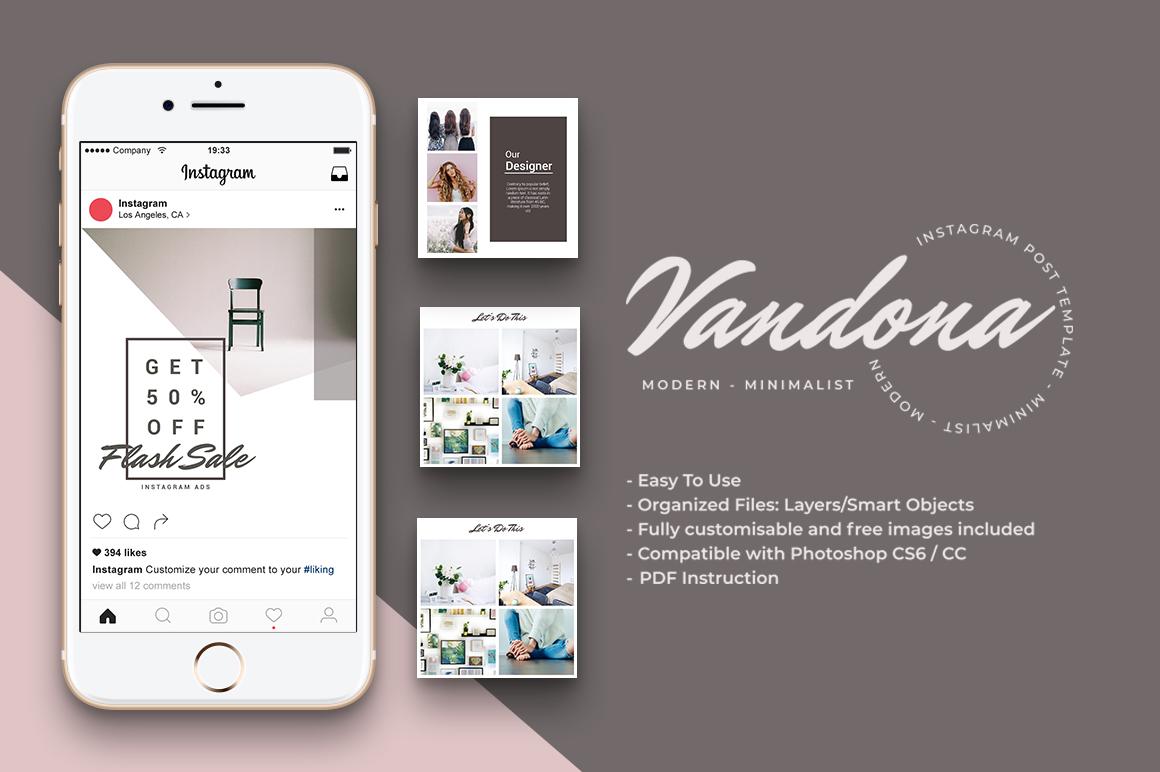 Vandona - 30 Instagram Post Template