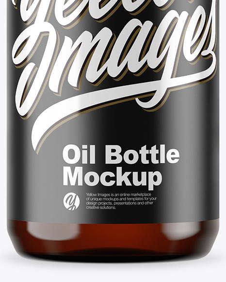 Download Dark Amber Glass Oil Bottle Mockup PSD - Free PSD Mockup Templates