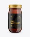 Dark Amber Glass Jar Mockup