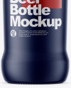 Matte Ceramic Beer Bottle Mockup
