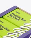 12 Protein Bars Box Mockup