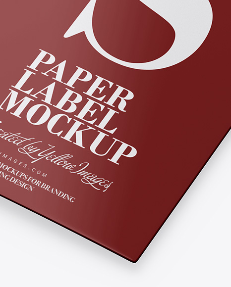 Download Glossy Label Mockup In Object Mockups On Yellow Images Object Mockups PSD Mockup Templates