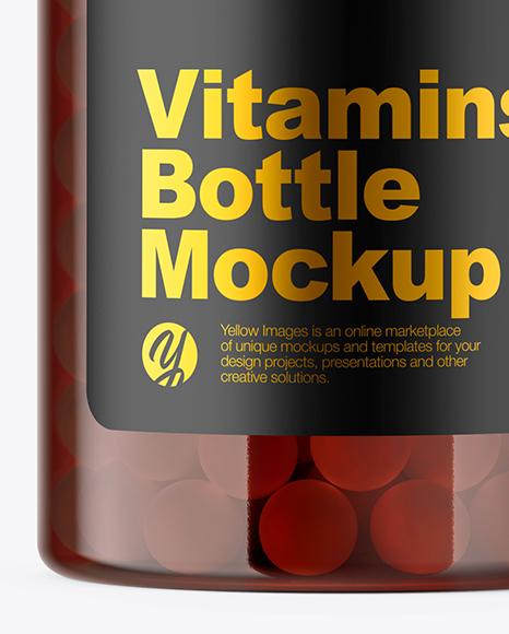 Download Amber Pills Bottle Mockup In Bottle Mockups On Yellow Images Object Mockups PSD Mockup Templates
