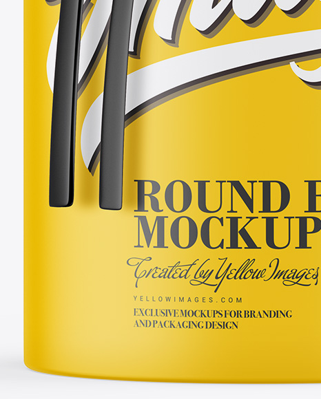 Download Matte Round Box With String Mockup In Box Mockups On Yellow Images Object Mockups PSD Mockup Templates