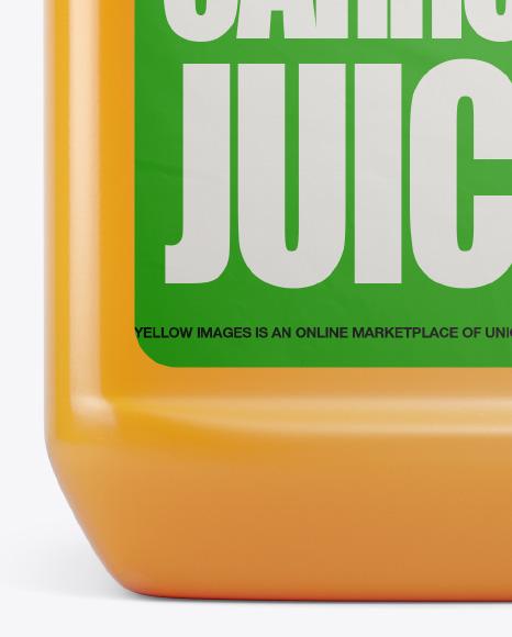 Plastic Jug w/ Carrot Juice Mockup