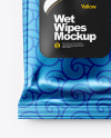 Metallic Wet Wipes Mockup