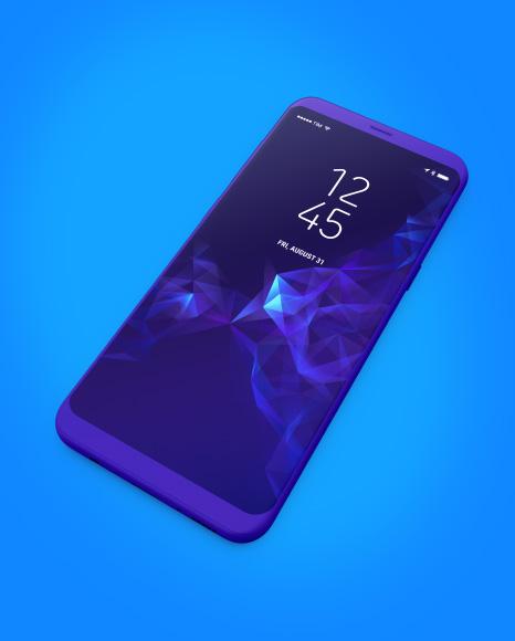 Clay Samsung Galaxy S8 Mockup