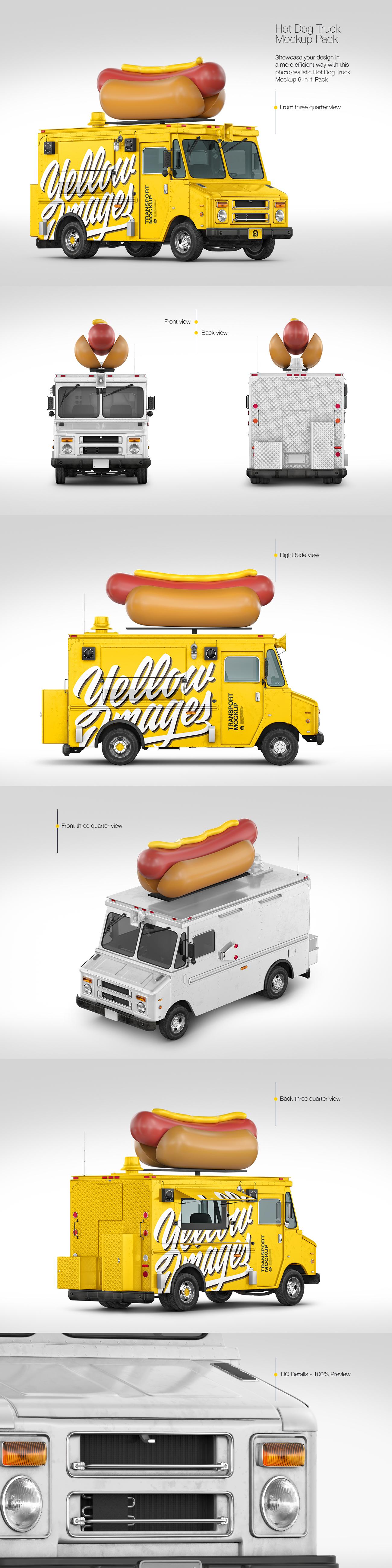 Hot Dog Truck Mockup Pack