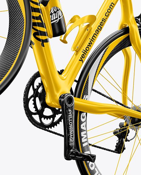 Road Bicycle Mockup - Left Half Side View