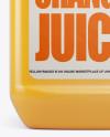 Plastic Jug w/ Orange Juice Mockup