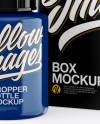 Glossy Dropper Bottle w/ Matte Box Mockup