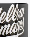 Metallic Dropper Bottle w/ Matte Box Mockup