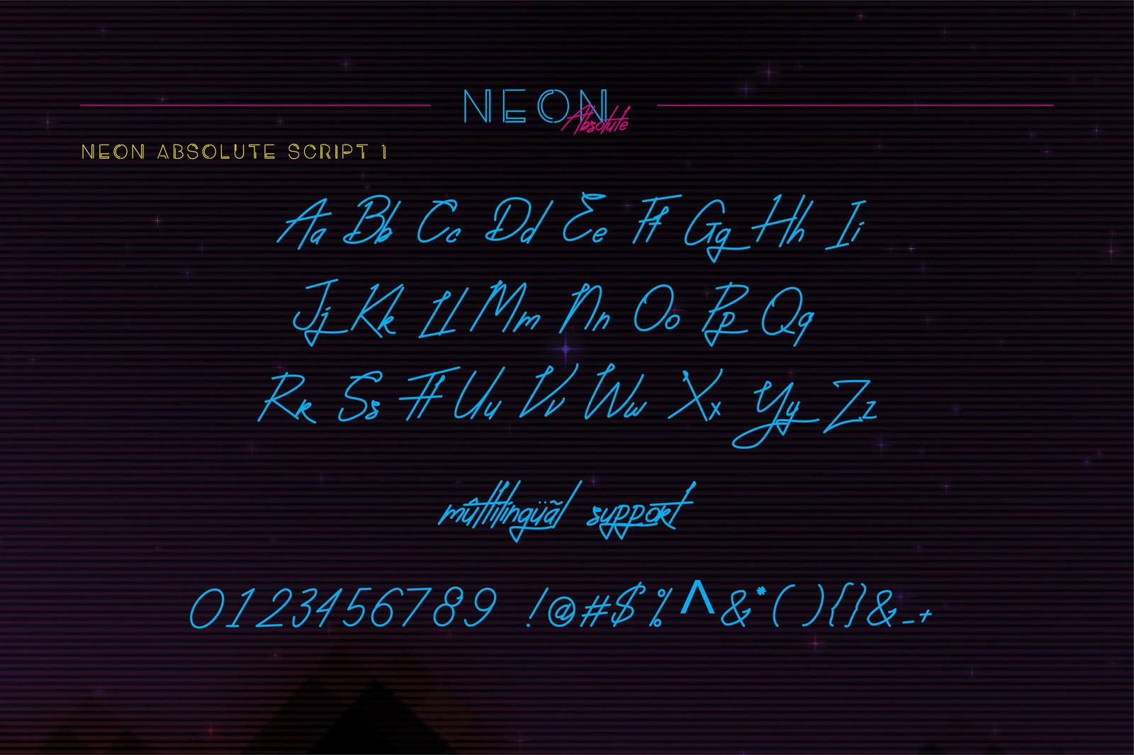 Neon Absolute - Font Duo + Bonus
