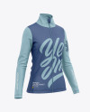 Women's Long Sleeve Full-Zip Jacket - Front Half-Side View