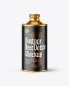 Metallic Vintage Beer Bottle Mockup