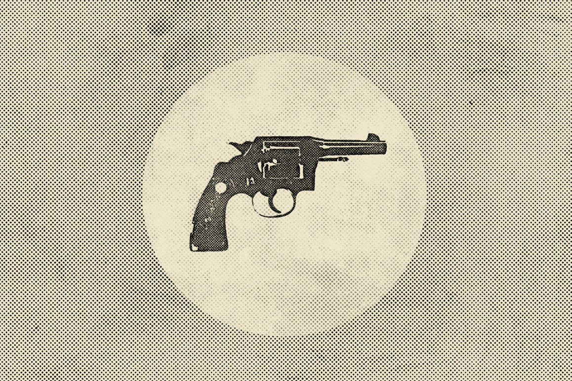 Handguns: EPS Vector Illustrations