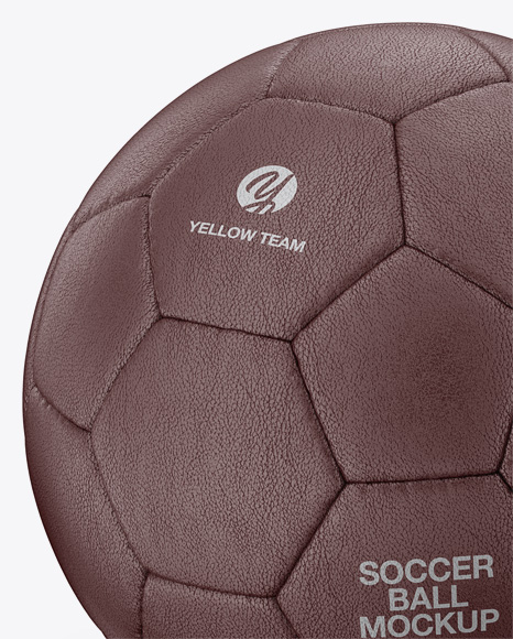 Leather Soccer Ball Mockup