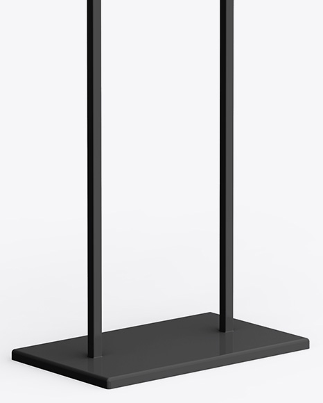 A1 Display Stand Mockup - Half Side View