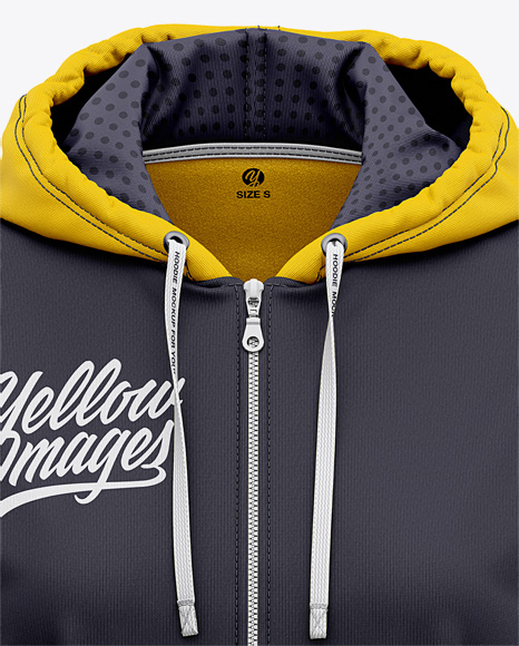 Women's Full-Zip Hoodie - Front View Of Hooded Sweatshirt