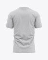 Men's Heather Tight Round Collar T-Shirt - Back View