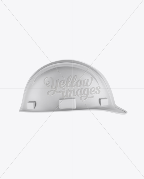 Matte Hard Hat Mockup - Side View