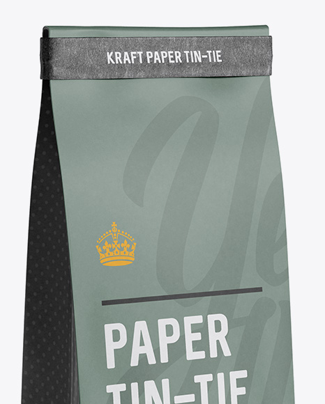 Kraft Bag With A Tin Tie Mockup Front View