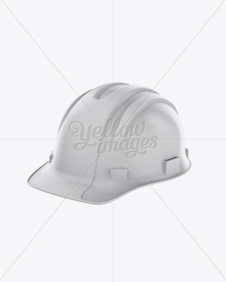 Download Matte Hard Hat Mockup - Halfside View Free Mockups