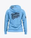 Women's Full-Zip Hoodie - Back View Of Hooded Sweatshirt