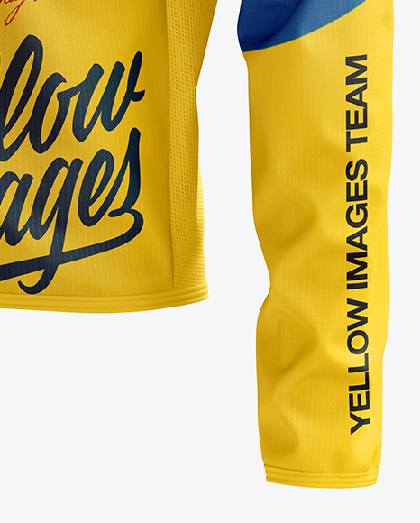 Download Mens Cycling Wind Jacket Mockup Back Half Side View Yellowimages