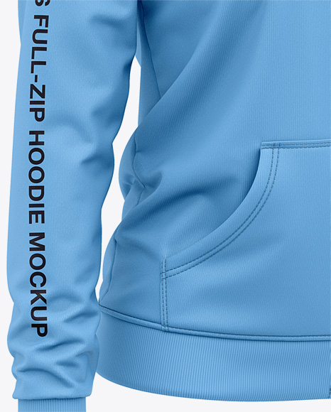 Women's Full-Zip Hoodie - Front Half Side View