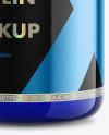 Clear Protein Jar Mockup