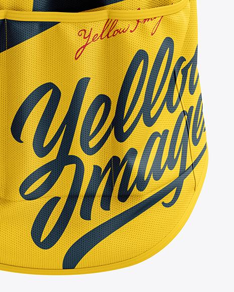 Men's Cycling Wind Vest mockup (Back View)