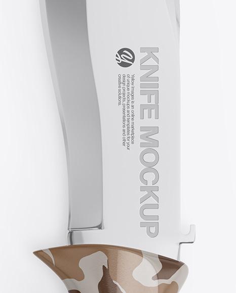 Glossy Knife Mockup