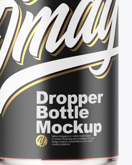 Clear Glass Dropper Bottle Mockup
